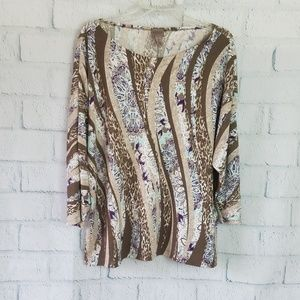 Easywear by Chico's | Dolman Animal Print Top